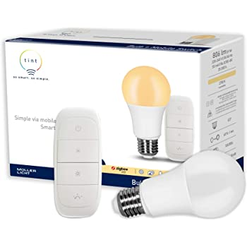 Tint Von Muller Licht Smarte Led Lampe E27 Birnenform Warmweiss 2700k Dimmbar 9w Ersetzt 60w Lampe Zigbee Funktioniert Mit Alexa Amazon De Beleuchtung