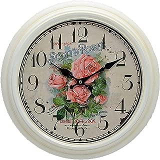 古典 HOME 15607 Scotts 玫瑰金属挂钟 古典外观