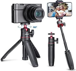 ULANZI MT-08 カメラ三脚スタンド 3way 3段伸縮 ラバーグリップ 自由雲台 軽量 vlog 自撮り棒 持ち運び便利 携帯式 撮影安定 Sony A6600/A6400/A6300/A6000/RX100 VII/A7 III/Z...