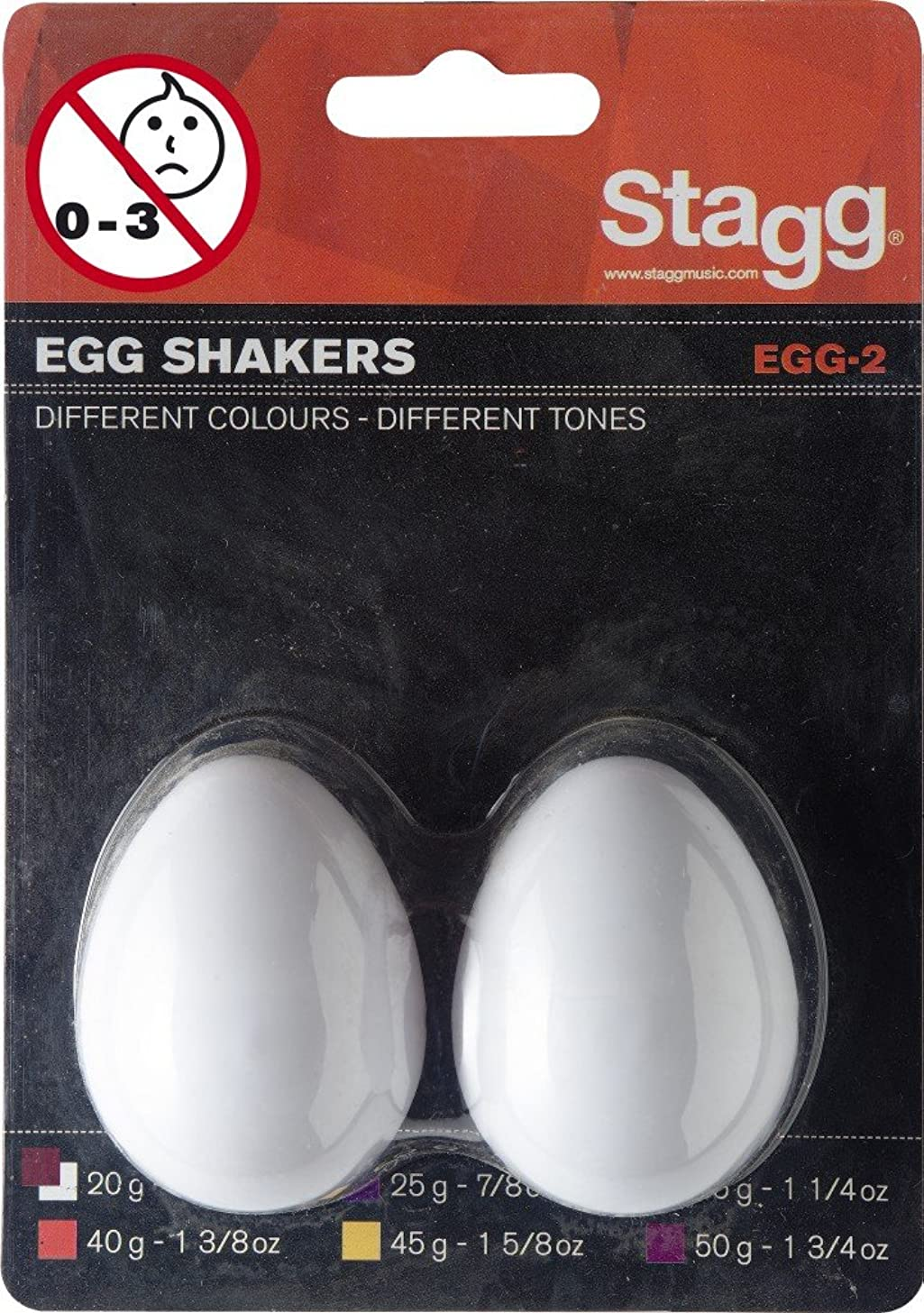 Stagg Egg Shakers (2 piece set) - White