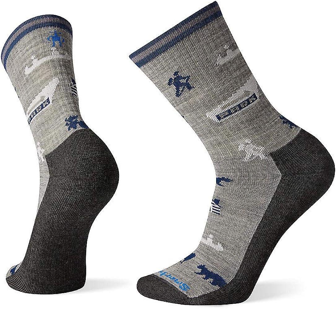 Smartwool Men's Hike Park Explorer Pattern Crew Light Merino Wool Socks