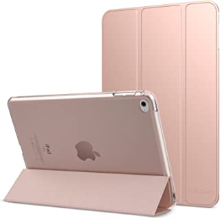 MoKo Case Fit iPad Mini 4 - Slim Lightweight Smart Shell Stand Cover with Translucent Frosted Back Protector Fit Apple iPad Mini 4 7.9 inch 2015 Release Tablet, Rose Gold (with Auto Wake/Sleep)