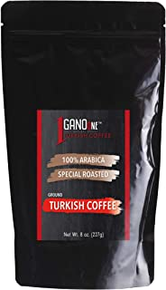 GanoOne Medium Roast Ground Turkish Coffee with Ganoderma Reishi Mushroom Extract Special Blend Sugar Free 100% Arabica Re...