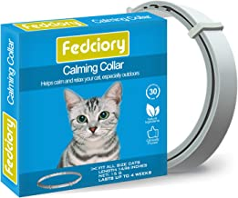 Fedciory Calming Collar for Cats, Adjustable Relieve Reduce Anxiety Pheromone Your Pet..