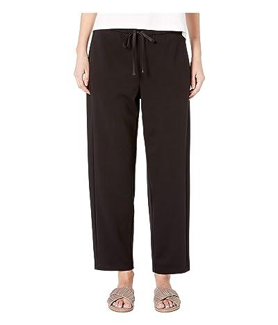 Eileen Fisher Travel Ponte Drawstring Pant (Black) Women