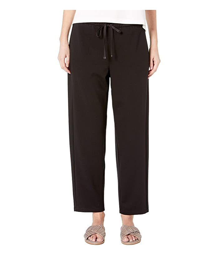 Eileen Fisher Travel Ponte Drawstring Pant (Black) Women