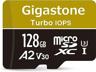 【トップクラス A2規格 】Gigastone Micro SD Card 128GB マイクロSDカード 128 GB プロ級 超高速起動 A2 スマート端末アプリ最適化 V30 高画質 ウルトラHD 4K動画対応 ニンテンドー Switch 動作確認済 スマホ タブレット 一眼レフ ビデオカメラ ゲーミングPC ドラレコ ドローン ゴープロ SD 変換アダプタ付属