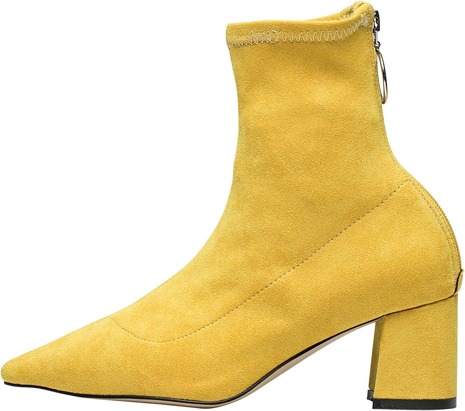AnnaKastle Womens Pointy Toe color Ankle Boots Fashion Bootie