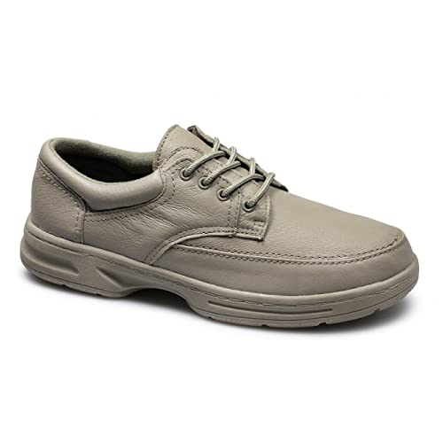 6a35423ff2e9 Dr Keller BRIAN 3 Mens Leather Lace Up Wide Fit Shoes Taupe