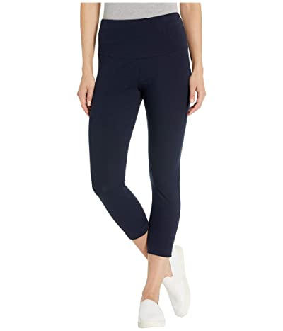 Lysse Cropped Cotton Leggings (Midnight) Women