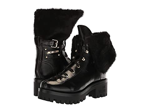 LOVE Moschino Faux Fur Ankle Boot
