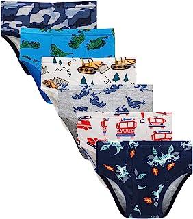Boboking 100% Cotton Little Boys Briefs Soft Dinosaur Truck Toddler Underwear