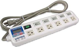 デジタル電力計付3Pアース付6個口スイッチタップ