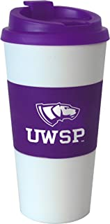 NCAA Wisconsin Stevens Point Pointers Sleeved Travel Tumbler, 16-Ounce