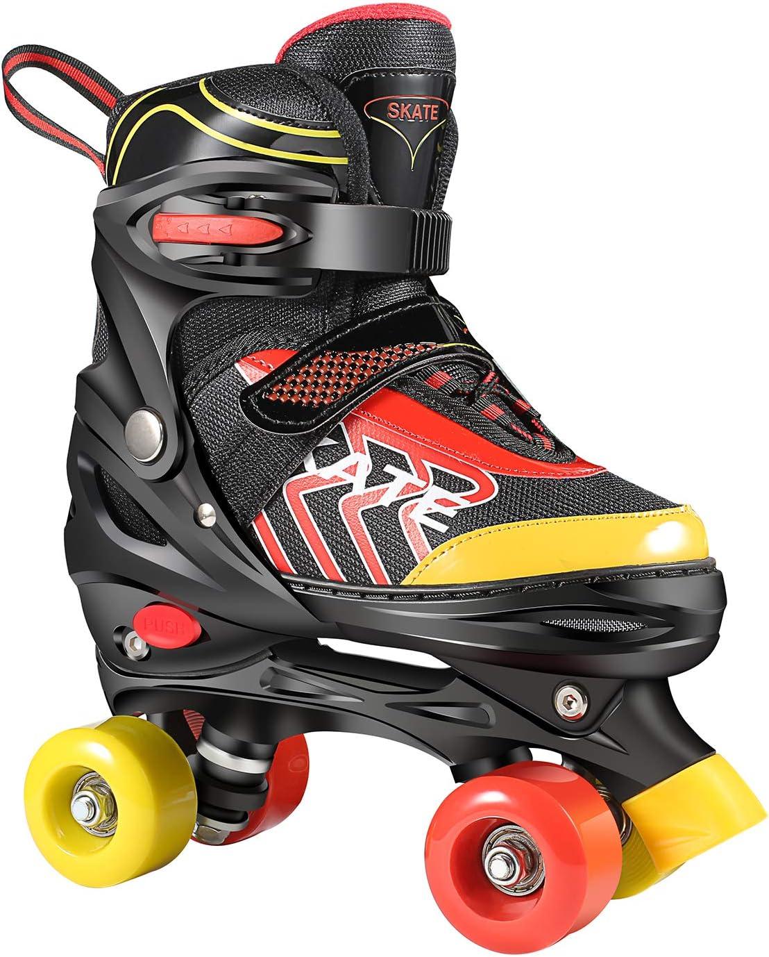 Adjustable Roller Skates Blade Light Up Flashing Skates Wheels Inline Skates Blades for Toddler Boys Mesh Breathable 3 Size Inline Skates for Beginners Children Boys Girls Hikole Inline Skates