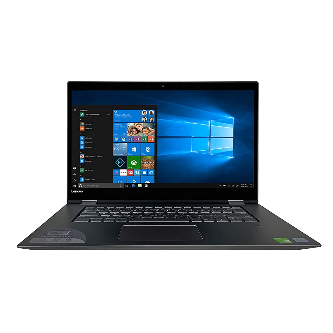 Lenovo Flex 5 Series 2-in-1 4K UHD Touchscreen Laptop - 8th Gen Intel Core i7-8550U Processor up to 4.00 GHz, 16GB DDR4 Memory, 2TB Hard Drive, NVIDIA GeForce 2GB MX130, Active Stylus Pen, Win 10 Pro