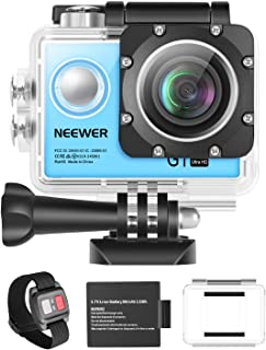 Neewer G1 Ultra HD Action Camera 4K 12MP, 98 ft Underwater Waterproof Camera 170 Degree Wide Angle WiFi Sports Cam High-t...