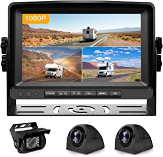 $239 » Fursom 1080P RV Backup Camera, 7'' Monitor Wired Vehicle Reverse System Kit with DVR, Spilt Screen, Night Vision, Waterpro...