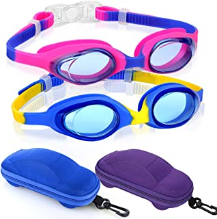 Careula Kids Swim Goggles, Swimming Goggles for Boys Girls Kid Toddlers Age 2-10