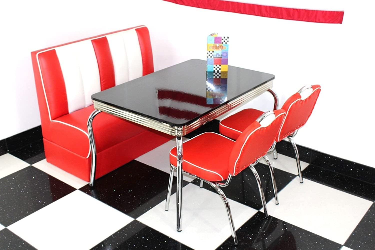 American Diner Furniture 9s Style Retro High Gloss 9 The Legs 9 ...