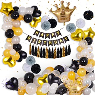 """Xcellent Global 106 Pcs Party Decorations Kit """"Happy Birthday"""" Banner, Confetti Latex Balloons, Star Heart Foil Balloons, ..."""
