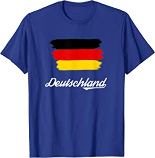 Painted Deutschland / Germany Flag Gift Fan T-Shirt