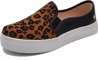 Carolina Boix Women's Sneakers, Texas Preto-Leopardo