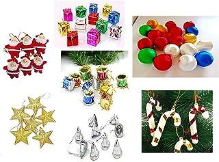 APSAMBR-70 pcs Christmas Tree Mini Ornaments Decoration Combo (Tree Not Included)