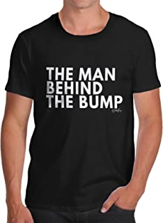ea1caa7b4a TWISTED ENVY The Man Behind The Bump Men's Funny 100% Cotton T-Shirt,