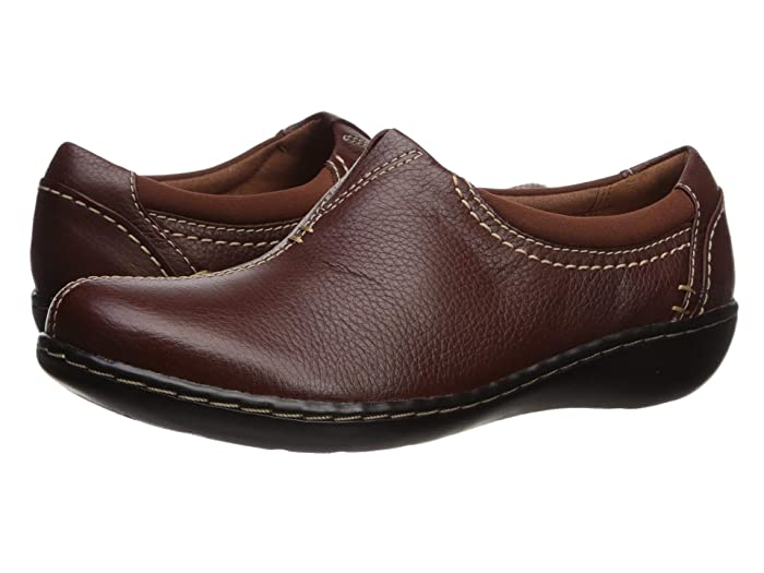 Clarks  Ashland Joy (Dark Tan Leather) Womens  Shoes