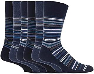 Gentle Grip - 6 Pairs of Mens Honeycomb Top/Cotton Rich Socks, in Bigfoot size 12-14 UK/46-50 eur