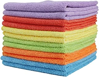 Clean Leader Microfiber Cleaning Cloths Best Kitchen Dish Cloths,multifunctional Microfiber Towel for Dish Towels,bath Towels,car Washing,13.7 By 13.7-inch,6 Colors - 12 pieces