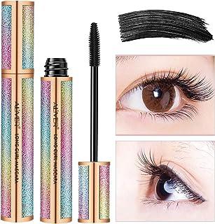 Waterproof Mascara, Natural 4D Silk Fiber Lash Mascara, Lengthening and Thick, Smudge-Proof Eyelashes, Long Lasting Queen ...