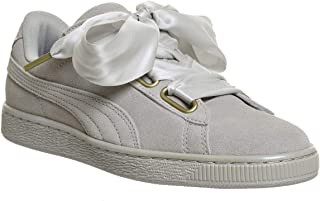 PUMA Suede Heart Satin Womens Sneakers Grey