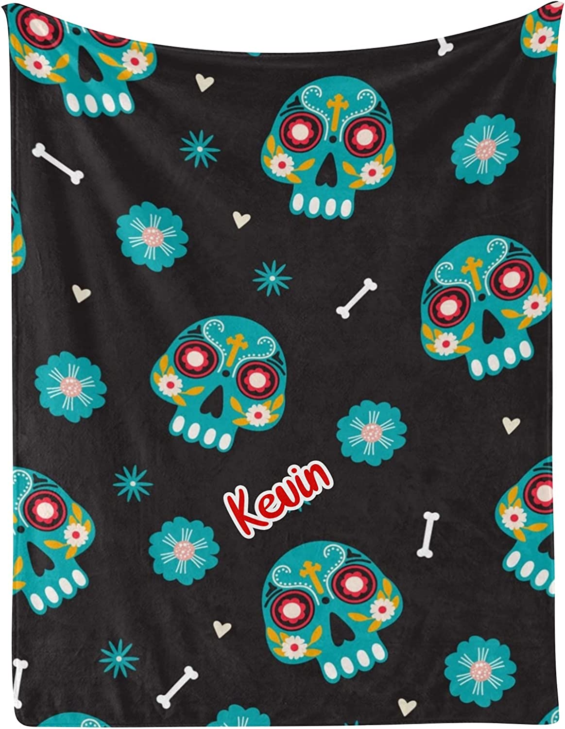 Gorgeous Skull Flower Heart Bone Personalized Baby with Louisville-Jefferson County Mall Blankets 30x Name