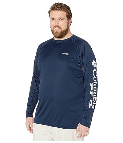 Columbia Big Tall Terminal Tackle L/S Shirt (Collegiate Navy/White Logo) Men