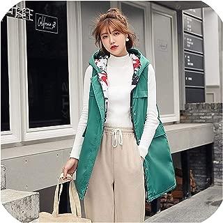 Surprise S 2019 Women Cotton Zipper Outwear Sleeveless Vest Jacket Waistcoat Winter Hooded Sleeveless Colete Pocket Solid