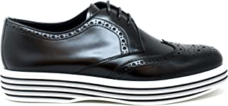 CHURCH'S Women's DE00469SNF0AAB Black Leather Lace-Up Shoes