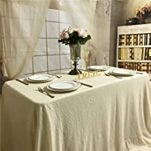 TRLYC 60x102-Inch Christmas Ivory Sequin Table Cloth for Wedding Party Banquet