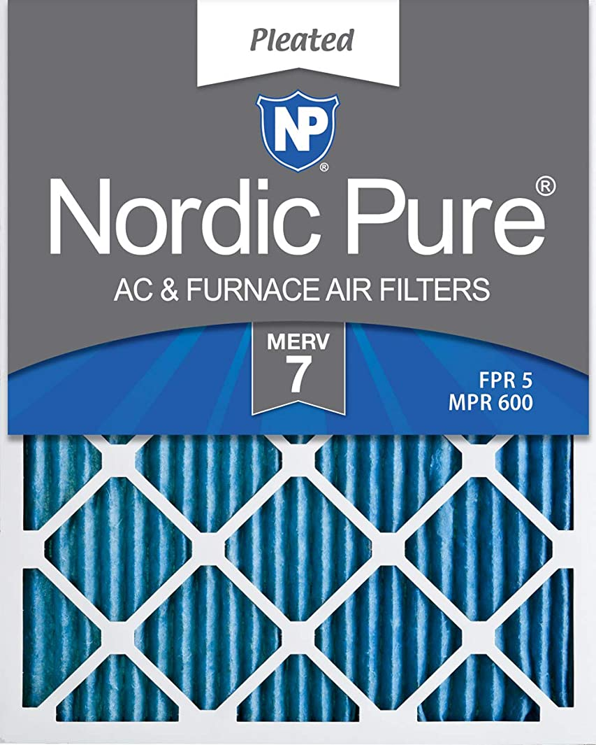 Nordic Pure 20x30x1 MERV 7 Pleated AC Furnace Air Filters, 20x30x1M7-6, 6 Pack