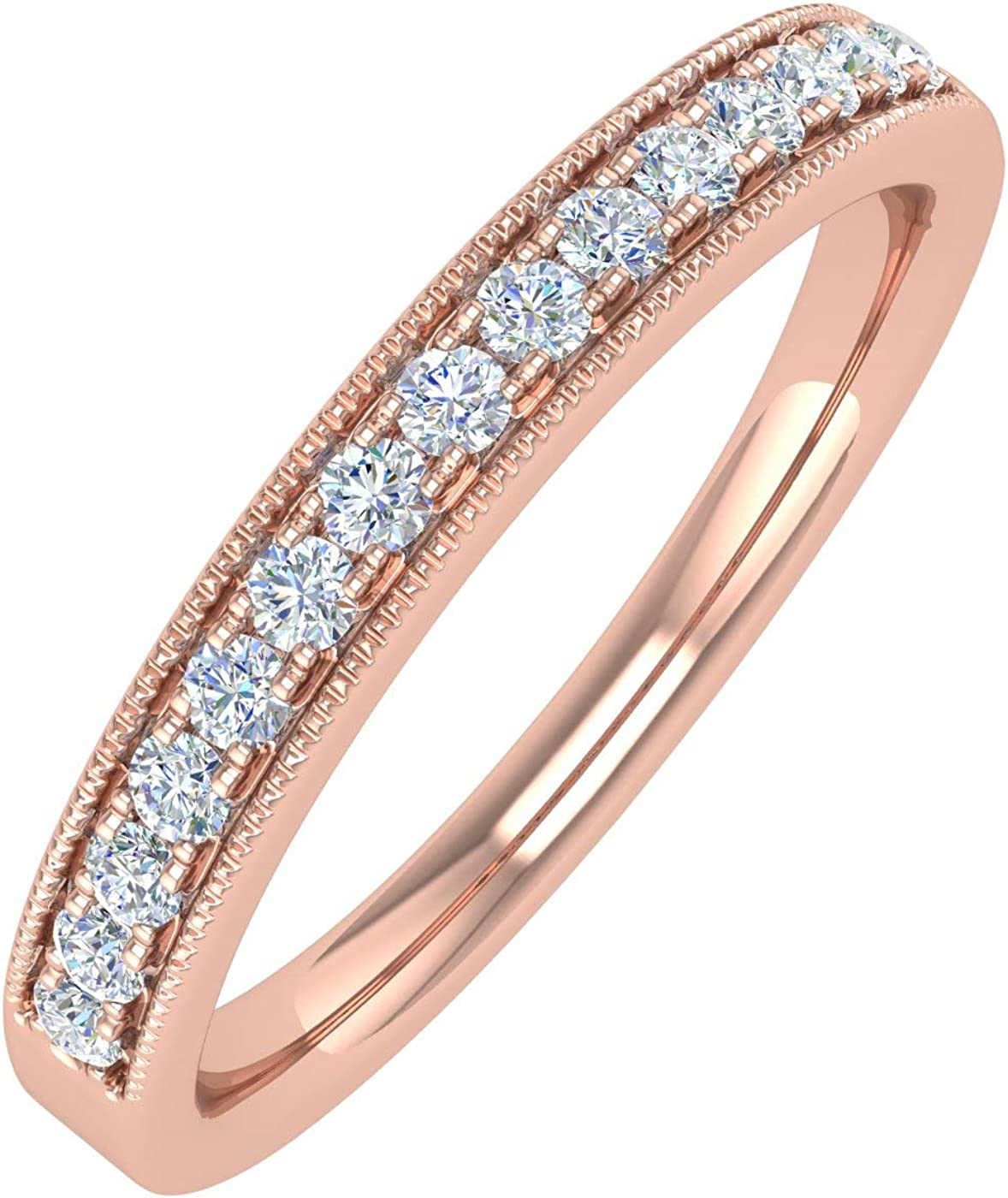 1 Super beauty product restock quality top 5 Carat Diamond Vintage Wedding Band 10K in San Diego Mall Gold Ring