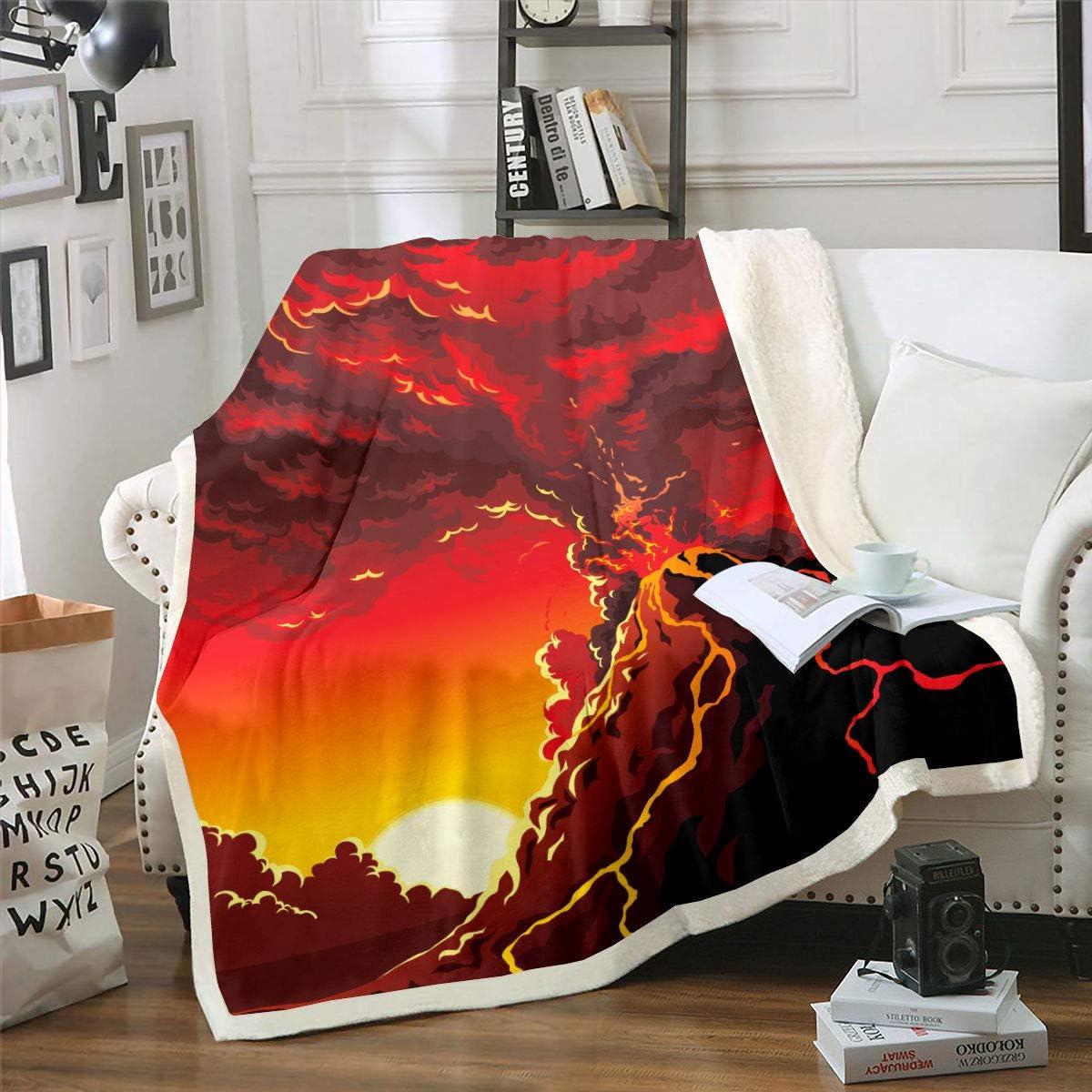Animer and price revision Erosebridal Volcano Fleece Blanket Disaster Natural Sherpa Manufacturer direct delivery Blank