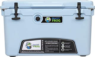 Frosted Frog Light Blue 45 Quart Ice Chest Heavy Duty High Performance Roto-Molded Commercial Grade Insulated Cooler