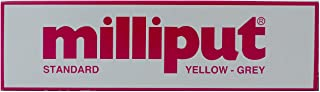 Milliput Standard 2-Part Self Hardening Putty, Yellow/Grey