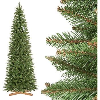 FairyTrees Artificial Árbol de Navidad Slim, Picea Natural, el ...