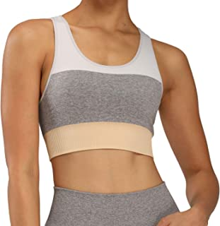 Aoxjox Women's Sports Bra Seamless Workout Crop