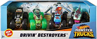 Hot Wheels Monster Trucks 1: 64, 4 Pack Vehicles (Styles May Vary)