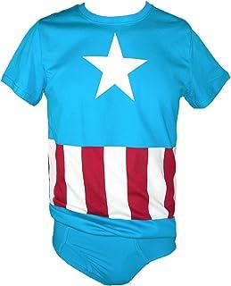 Bioworld Underoos Men's Marvel Captain America Tee and Brief Set