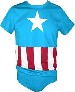 Underoos Men's Marvel Captain America Tee and Brief Set
