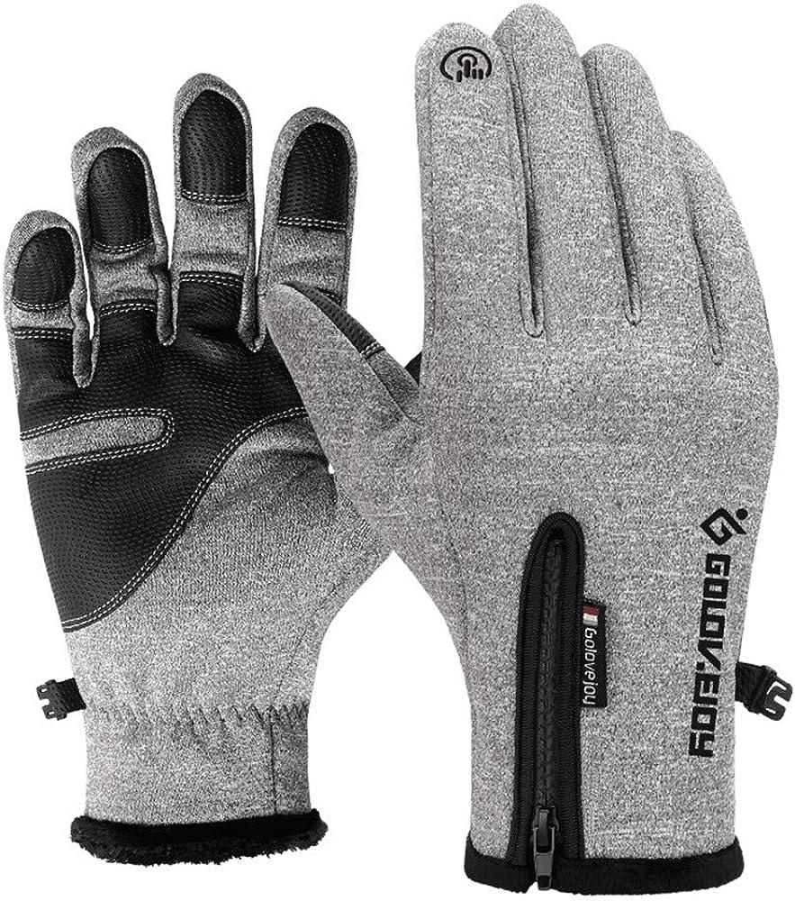Men's Women's Glove Winter Warm Ski Snow Windproof Touch Screen Thermal Glove Purple